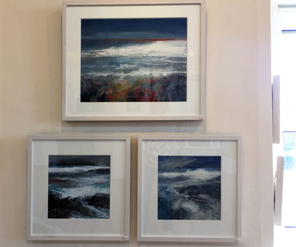 Expressive landscapes, seascapes, river paintings, contemporary art, vibrant, colourful art