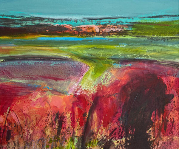 Expressive landscapes, seascapes, South Downs Landscapes contemporary art, vibrant, colourful
